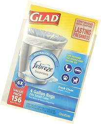 Glad Odor Shield 4 Gallon Household or On the Go Trash Bags
