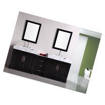 """Design Element Odyssey 88"""" Double Sink Bathroom Vanity"""