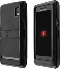 Verizon OEM Leather Snap on Hard Case with Kickstand for