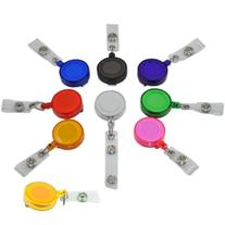 Office Retractable Reel Key Clip Holders 9 Colors Id Badges