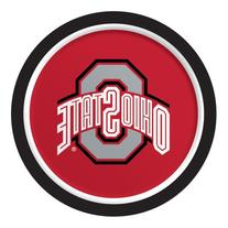 Ohio State Buckeyes 9-inch Paper Plates 8 Per Pack