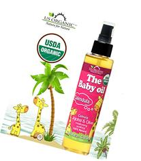 US Organic Baby Oil with Calendula, Smooth Caribbean Coconut