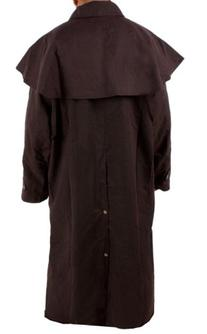 All New Waterproof Brown Australian Oilskin Duster Coat