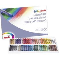 Pentel Oil Pastel Set With Carrying Case,45-Color Set,