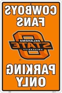 OKLAHOMA STATE COWBOYS Metal Parking Sign 12 x 18 embossed