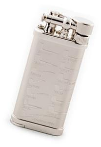 IM Corona Old Boy Rhodium Pipe Shapes Pipe Lighter by IM