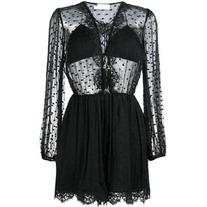 Zimmermann - Oleander lattice playsuit - women - Silk/Cotton