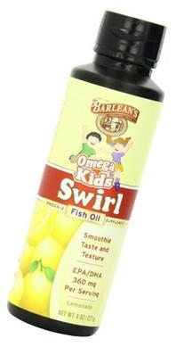 Barlean's Organic Oils Kids Omega Swirl Fish Oil 8 oz