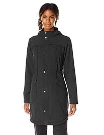 ExOfficio Women's Ometti Trench Jacket, Black, X-Large