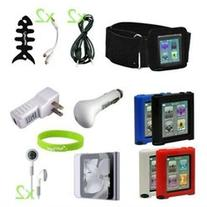 CrazyOnDigital 16-in-One Accessory Bundle for iPod nano 6G