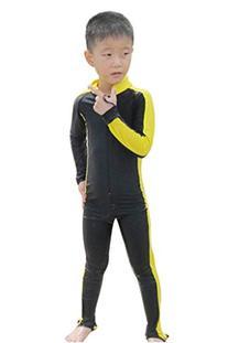 Boy's and Girl's Design One Piece Long-sleeve Swimsuit Sun