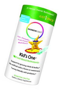 Rainbow Light Kids' One Multistars, 30 Chewable Tablets