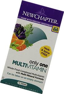 New Chapter Only One Multivitamin, 72 Tablets