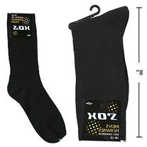 One Pair Men's Socks Size: Small, Black 80% Cotton 20%