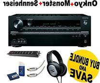 Onkyo TX-NR545 7.2-Channel Network A/V Receiver + Sennheiser