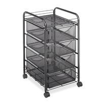 Safco Products 5214BL Onyx Mesh File Cart with 4 Storage