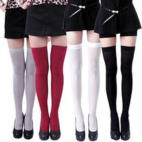 HDE Women's 4-Pack of Solid Color Opaque Sexy Thigh High