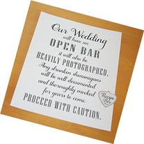 Open Bar Drunken Shenanigans Sign 8x10