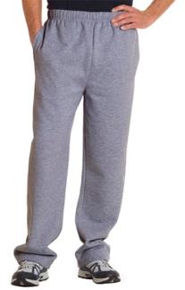 Badger Sportswear Adult Open Bottom Pocketed Fleece Pant,