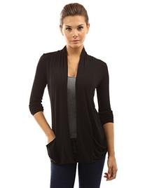 PattyBoutik Women's Open Front Pockets Cardigan