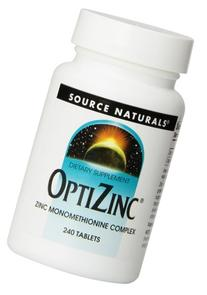 Source Naturals - Optizinc, 240 tablets