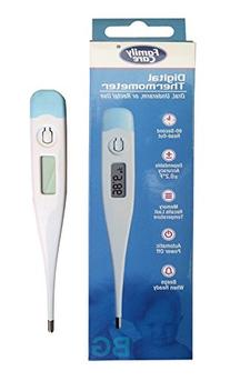Family Care Oral, Underarm or Rectal Digital Thermometer