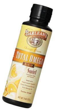 Barlean's Orange Cream Total Omega Swirl, 8-Ounce