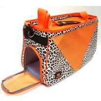 Orange Leopard Dot Pet Carrier Cage Dog Totes Bag Doggie