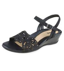 Earth Orchid Leather Womens Platforms & Wedges