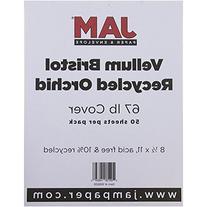 8 1/2 x 11 Orchid Vellum Bristol 67lb Cover - 250 sheets per