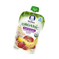 Gerber Organic 2nd Foods Pouches, Banana, Red Berries