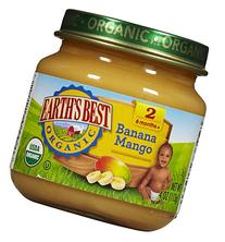 Earth's Best Organic Fruit Blends Baby Food, Banana Mango, 4