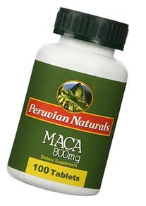 Organic Maca 800mg - 100 Tablets