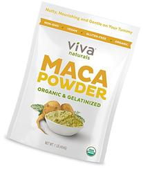 Viva Naturals Organic Maca Powder, Gelatinized for Enhanced