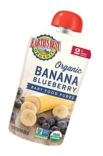 Earth's Best Organic Stage 2, Banana & Blueberry, 4 Ounce