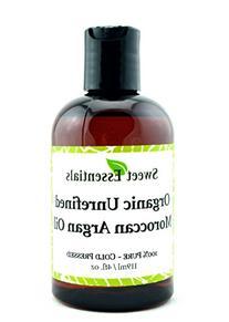 Organic Unrefined Virgin Moroccan Argan Oil - 4oz - Imported