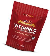 Sari Foods Acerola Cherries Organic Vitamin C Powder, 6 oz