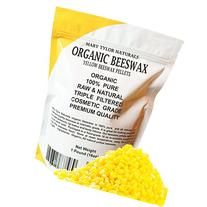 100% Organic Yellow Beeswax Pellets 1lb  Premium Quality,