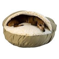 Snoozer Orthopedic Cozy Cave Pet Bed, Small, Khaki