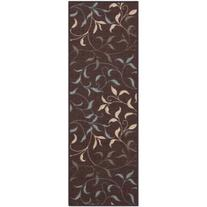 Ottomanson Ottohome Contemporary Leaves Non-Skid Modern Rugs