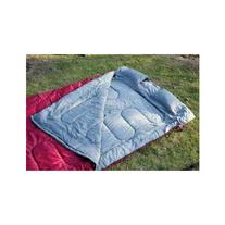 "Outsunny 86"" x 59"" Two-Person Double Wide Sleeping Bag - Red"