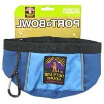 Outward Hound Kyjen 48-Ounce Port-A-Bowl, Blue