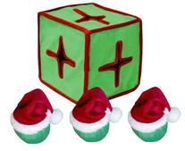 Outward Hound Kyjen  PP01872 I-Qube Puzzle Plush Holiday Dog