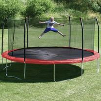 17' x 15' Oval Trampoline with Safety Enclosure Pad Color: