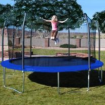 Skywalker Trampolines 17 x 15 Oval Trampoline and Enclosure
