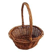 Oval Shaped -SMALL- Willow Handwoven Easter Basket by Royal