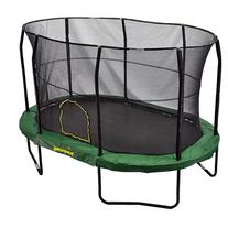 JumpKing Oval 9' x 14' Trampoline with Solid Green Pad, Box