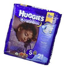 HUGGIES OverNites Diapers, Size 5, 21 Count, JUMBO PACK