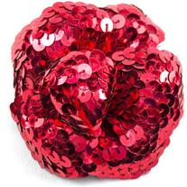 Pre-owned Chanel Sequin Camellia Brooch