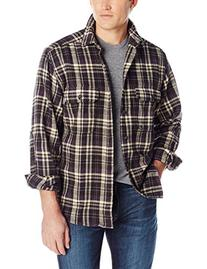 Woolrich Men's Oxbow Bend Flannel Shirt, Coal, Large